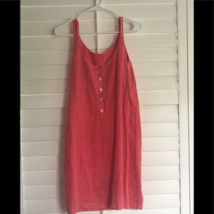 Pink Linen Sundress